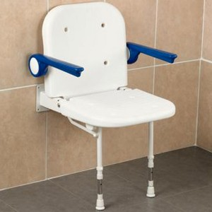 Shower-Seat-Wall-Mounted-With-Arms-&-Padded-Back-&-Seat